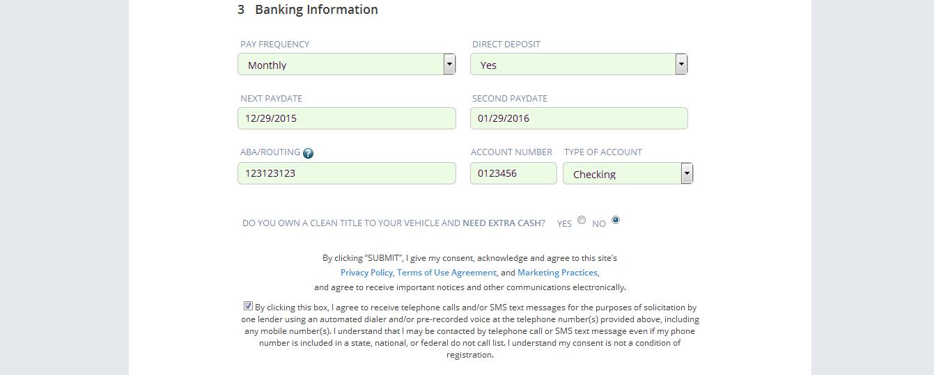 personal loan online application